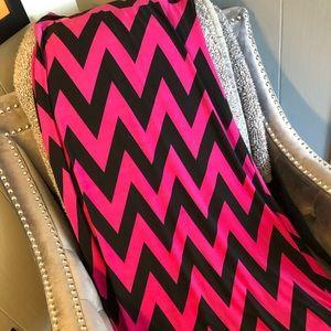U-Kiss chevron maxi skirt